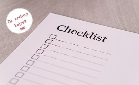 Dr. Andrea Rejzek - Checkliste