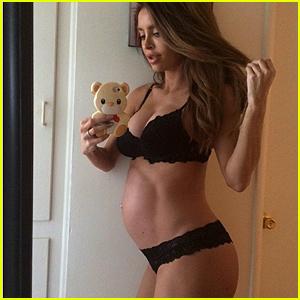 Sarah Stage 8. Monat schwanger