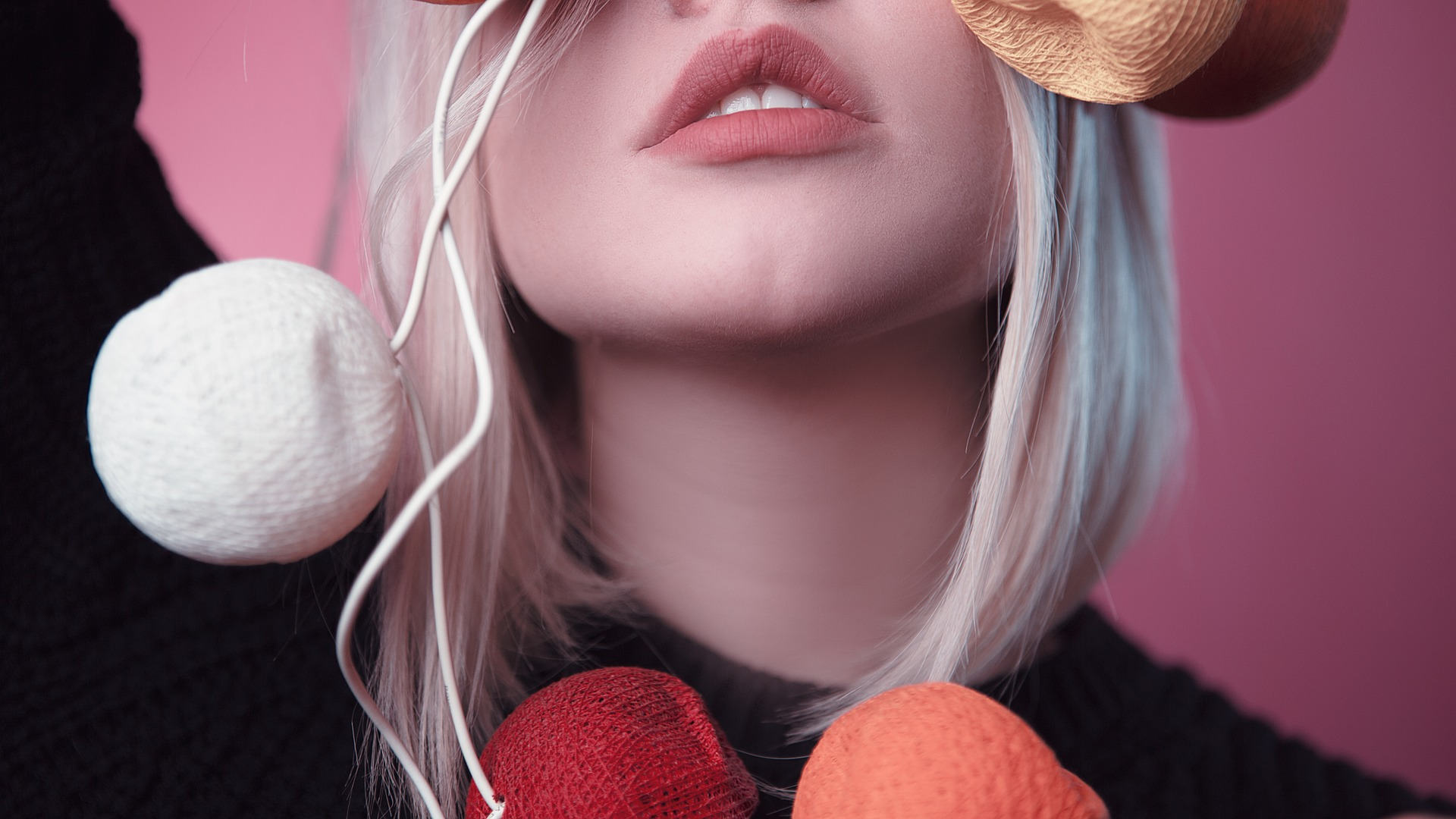 Lippen mit Silikonöl-Fillern